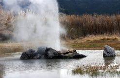 гейзер извержения Стоковые Изображения RF