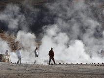 Гейзер del Tatio, пустыня Atacama, Чили стоковое изображение rf
