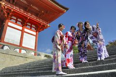 Гейша в Киото Стоковое Изображение RF