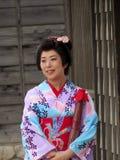 Гейша в парке студии Toei в Киото Стоковые Изображения