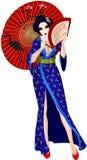 гейша япония сексуальная Стоковое Фото