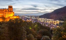 Гейдельберг Castle&city Стоковое Изображение