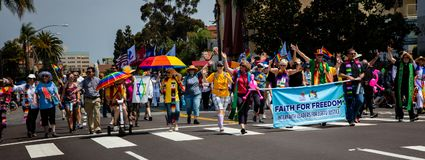Гей-парад 2017 Сан-Диего LGBT стоковое фото rf