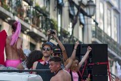 Гей-парад LGBT в Лиссабоне стоковые фотографии rf