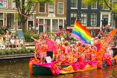 Гей-парад 2014 Амстердама стоковые изображения rf