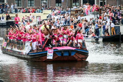 Гей-парад 2015 Амстердама Стоковые Фотографии RF