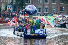 Гей-парад 2015 Амстердама Стоковое Фото