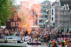 Гей-парад 2015 Амстердама Стоковая Фотография