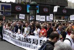 Гей-парад 2013 в Париже Стоковое Фото