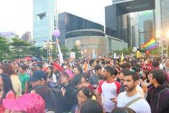 Гей-парад 2014 Гонконга Стоковое Изображение RF