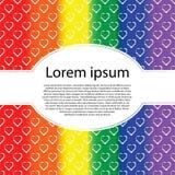 Гей-парад LGBT выпрямляет карточку Символ радуги влюбленности с овальной рамкой текста бесплатная иллюстрация