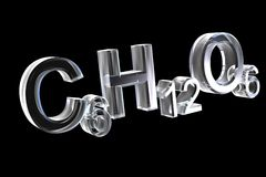 гексоза стекла формул химии 3d иллюстрация штока