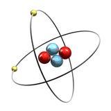 гелий атома 3d иллюстрация вектора