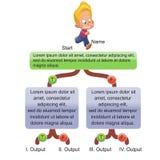Генерал - дети и головоломка иллюстрация вектора