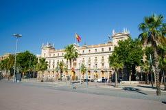 Генерал Палау Capitania около бульвара, города Барселоны, Каталонии, стоковые изображения