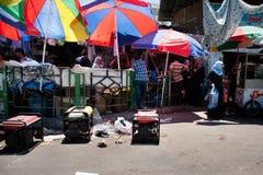 Генераторы нужные для недостатка силы в Газа стоковая фотография rf