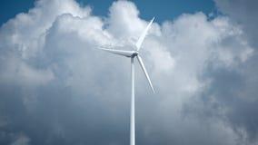 Генераторы энергии ветра на предпосылке неба 4K акции видеоматериалы