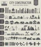 Генератор карты города Элементы для создавать ваш совершенный город blA Стоковые Фото