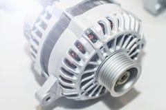 Генератор энергии на таблице Инженерство части автомобиля Стоковое Изображение RF