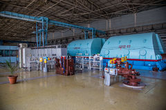 Генератор Turbo при водопод охлаждая на комнате машинного оборудования атомной электростанции стоковые изображения rf