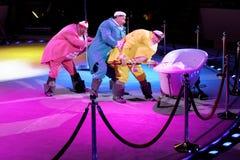 Генеральная репетиция в цирке Ciniselli, Санкт-Петербурге, России Стоковое фото RF
