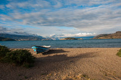 Генерал Carrera Lago, Carretera Austral, шоссе 7, Чили Стоковые Изображения RF