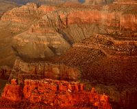 гениальный каньон красит грандиозным Стоковые Изображения