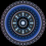 Гениальная мандала орнамента Стоковое Изображение