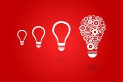 Гениальная электрическая лампочка идеи Стоковая Фотография RF