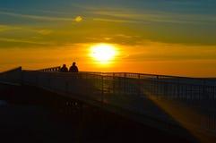 Гениальный восход солнца над водами Lake Huron Стоковая Фотография