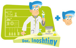 гений химии Стоковое Изображение