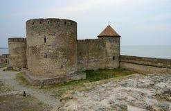 Генуэзская цитадель с башней суда в старой крепости Akkerman, Украине Стоковые Фото