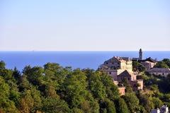 Генуя и церковь мыса стоковая фотография