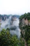 Геология и ландшафт Zhangjiajie Стоковая Фотография