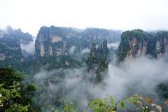 Геология и ландшафт Zhangjiajie Стоковые Изображения RF
