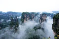 Геология и ландшафт Zhangjiajie Стоковые Фотографии RF