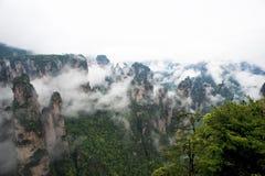 Геология и ландшафт Zhangjiajie Стоковое Изображение