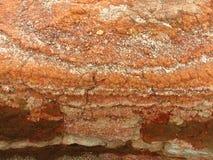 геологохимический утес слоев Стоковая Фотография