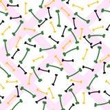 Геометрическая абстрактная безшовная картина с косточками Стоковое Изображение RF