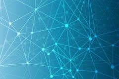 Геометрическая абстрактная предпосылка с соединенными линией и точками Молекула и связь структуры Научная концепция для Стоковое Изображение