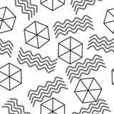 Геометрическая абстрактная текстура, безшовная шестиугольная абстрактная картина Предпосылка вектора Стоковые Фотографии RF