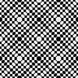 Геометрическая абстрактная черно-белая безшовная картина Стоковое фото RF
