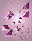 Геометрическая абстракция на пурпуровой предпосылке Стоковые Фотографии RF