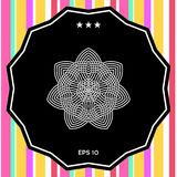 Геометрическая арабская картина логос элемент конструкции ваш Стоковое фото RF