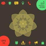 Геометрическая арабская картина логос элемент конструкции ваш Стоковое Фото