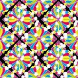 Геометрическая безшовная абстрактная картина Стоковые Фото