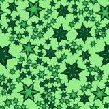 Геометрическая безшовная звезда формирует картину Повторять текстуру предпосылки в зеленом цвете Стильная печать иллюстрации вект Стоковое фото RF