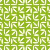 Геометрическая безшовная картина вектора белизна предпосылки зеленая Стоковые Изображения RF