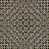 Геометрическая безшовная картина вектора в темных цветах Стоковые Фотографии RF