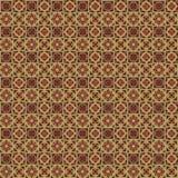 Геометрическая безшовная картина вектора в темных цветах Стоковая Фотография RF